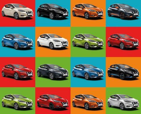 Farben des Nissan Micra